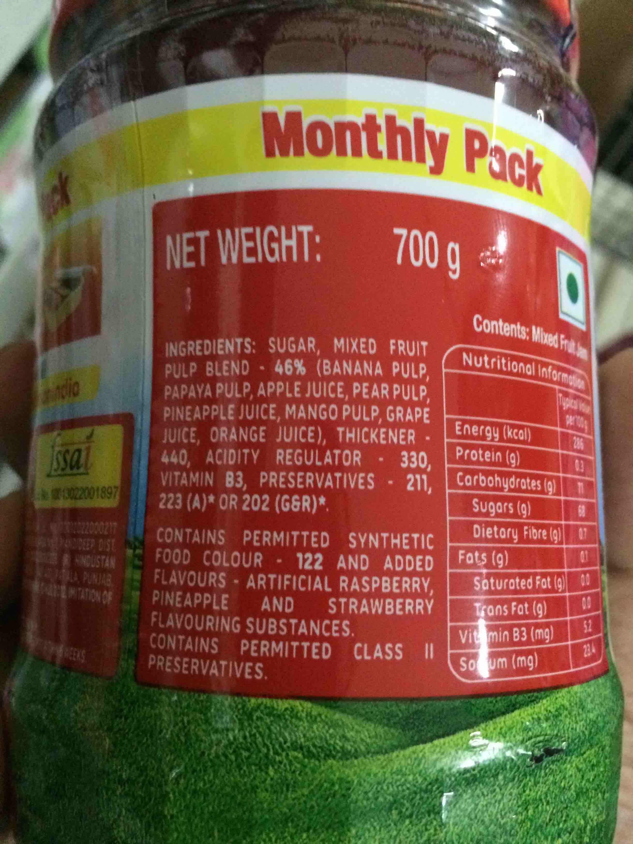 kissan mixed fruit jam - foodnetindia: the first and leading food